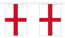 ST GEORGE ENGLAND BUNTING - 18 METRES 30 FLAGS